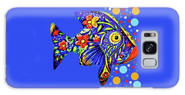 Galaxy Case featuring the digital art  Tropical Fish by Eleni Mac Synodinos