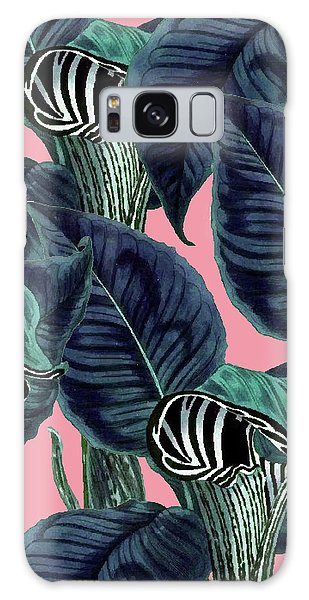 Tropical Flower Pattern Galaxy Case