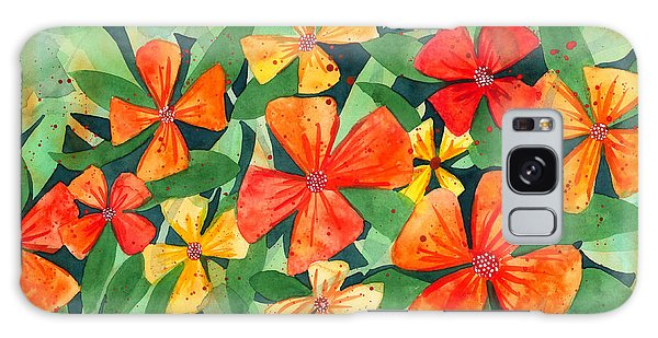 Tropical Flower Splash Galaxy Case by Kristen Fox