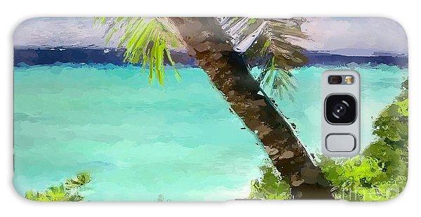 Tropical Hawaiian Palm Galaxy Case