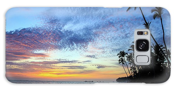 Tropical Island Sunrise Galaxy Case