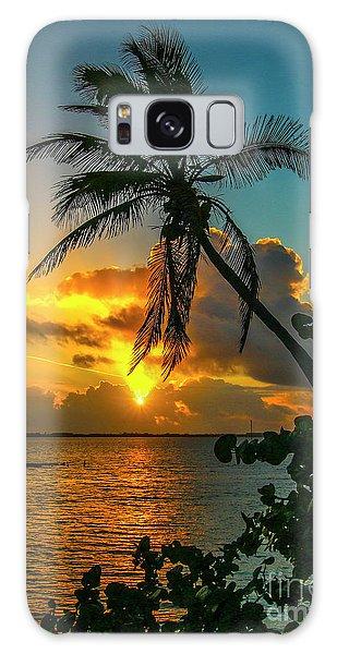 Tropical Lagoon Sunrise Galaxy Case