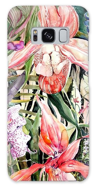 Tropical Orchids Galaxy Case by Mindy Newman