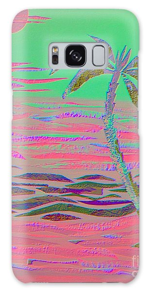 Hot Pink Coconut Palm Galaxy Case