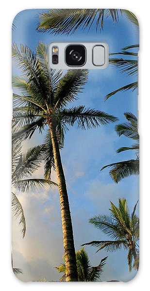 Tropical Palm Trees Of Maui Hawaii Galaxy Case