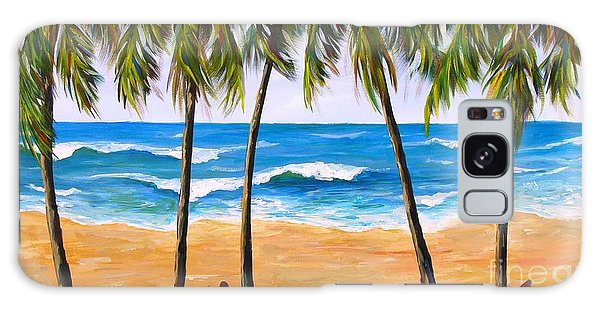 Tropical Palms 2 Galaxy Case