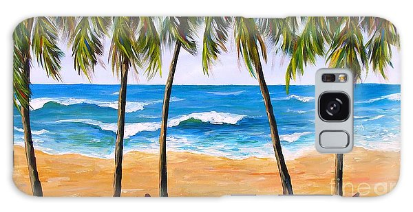 Galaxy Case featuring the painting Tropical Palms 2 by Phyllis Howard