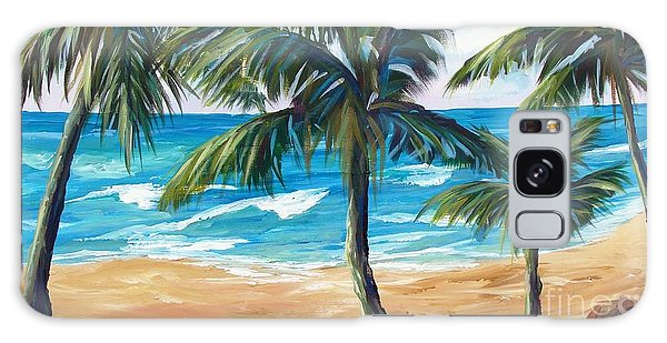 Tropical Palms I Galaxy Case