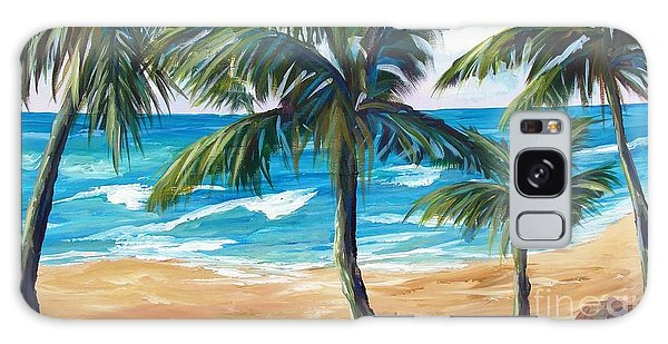 Galaxy Case featuring the painting Tropical Palms I by Phyllis Howard