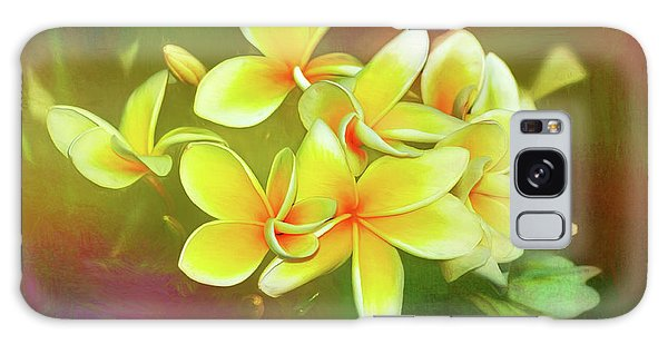 Galaxy Case featuring the photograph Tropical Plumeria Art By Kaye Menner by Kaye Menner