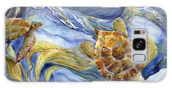 Monterey Galaxy Case - Tropical Sea Turtle In Surf by Jen Norton