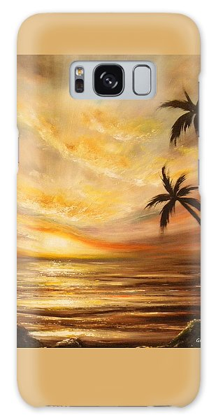 Tropical Sunset 64 Galaxy Case