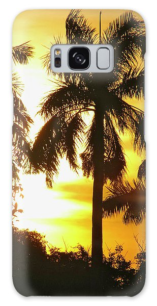 Tropical Sunset Palm Galaxy Case