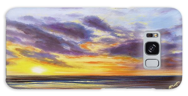 Tropical Sunset Panoramic Painting Galaxy Case