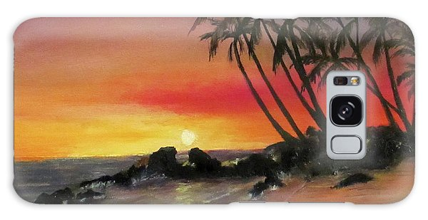 Tropical Sunset Galaxy Case by Roseann Gilmore
