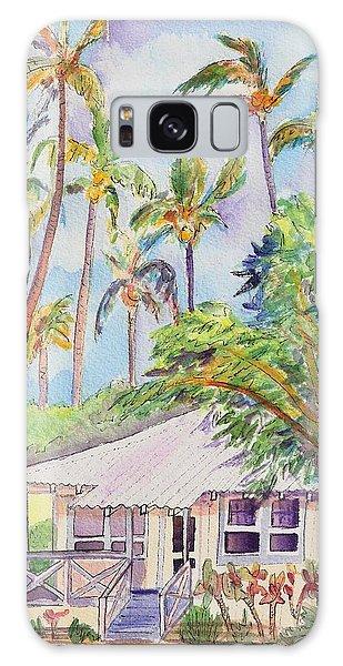 Tropical Waimea Cottage Galaxy Case by Marionette Taboniar