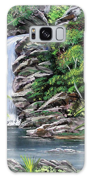 Tropical Waterfall 2 Galaxy Case by Luis F Rodriguez