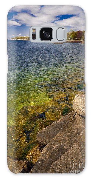 Tropical Waters Of Door County Wisconsin Galaxy Case