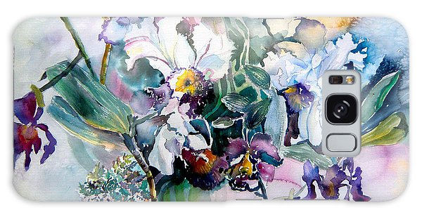 Tropical White Orchids Galaxy Case by Mindy Newman