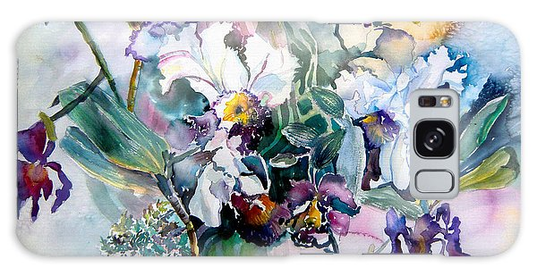Tropical White Orchids Galaxy Case