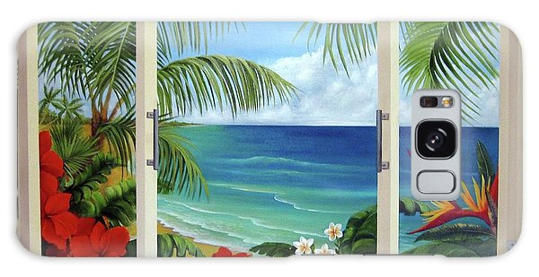 Tropical Window Galaxy Case