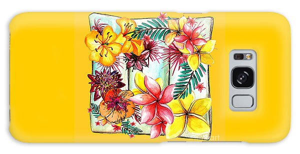 Galaxy Case featuring the photograph Tropicana On Yellow By Kaye Menner by Kaye Menner