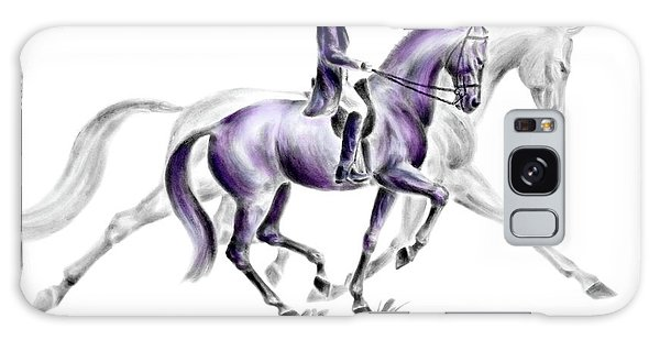 Trot On - Dressage Horse Print Color Tinted Galaxy Case by Kelli Swan