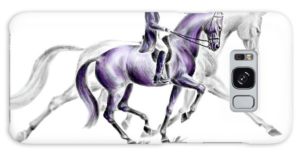 Trot On - Dressage Horse Print Color Tinted Galaxy Case