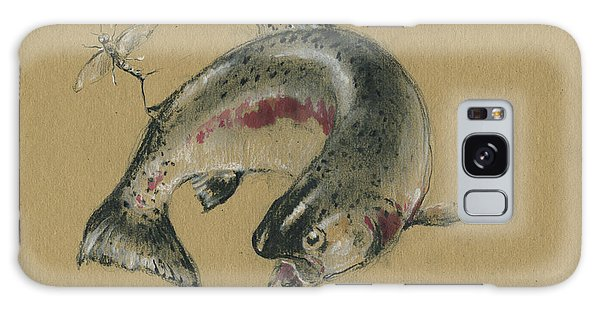Trout Galaxy Case - Trout Eating by Juan Bosco