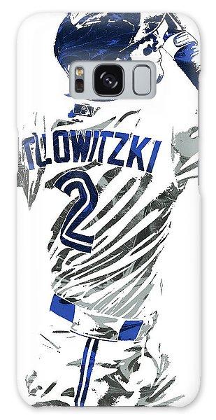 Troy Tulowitzki Toronto Blue Jays Pixel Art 2 Galaxy Case by Joe Hamilton