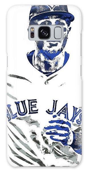 Troy Tulowitzki Toronto Blue Jays Pixel Art Galaxy Case by Joe Hamilton