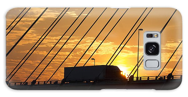 Truck Crossing The Mississippi River Galaxy Case
