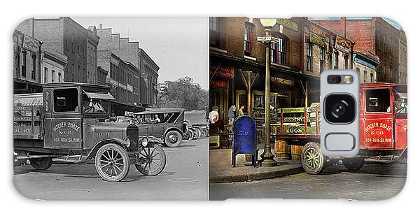 Truck - Home Dressed Poultry 1926 - Side By Side Galaxy Case by Mike Savad
