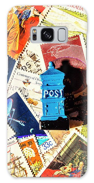 Shipping Galaxy Case - True Blue Postbox by Jorgo Photography - Wall Art Gallery