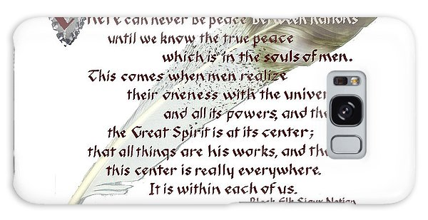True Peace By Black Elk Galaxy Case