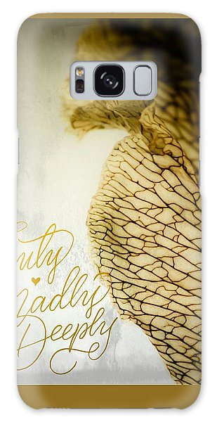Truly Madly Deeply Galaxy Case by Bobby Villapando