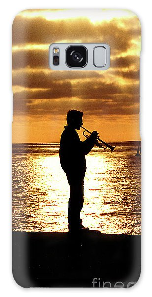 Trumpet Player Galaxy Case by Linda Olsen