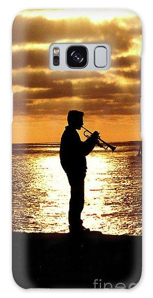 Trumpet Player Galaxy Case