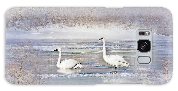 Galaxy Case featuring the photograph Trumpeter Swan's Winter Rest by Jennie Marie Schell