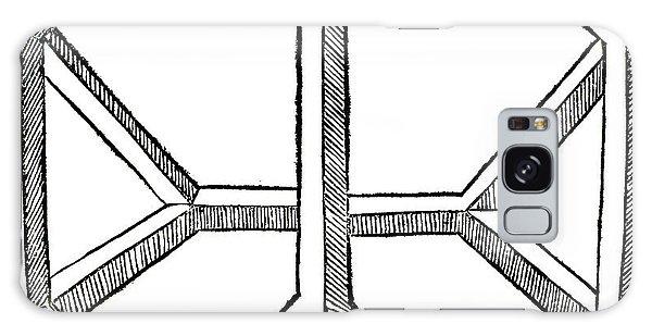 Minimal Galaxy Case - Truncated Tetrahedron With Open Faces  Tetraedron Abscisum Vacuum by Leonardo da Vinci
