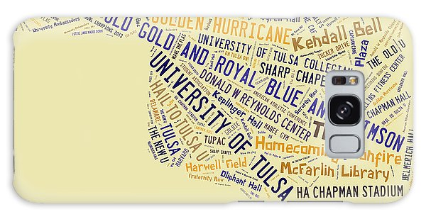 Tu Word Art University Of Tulsa Galaxy Case