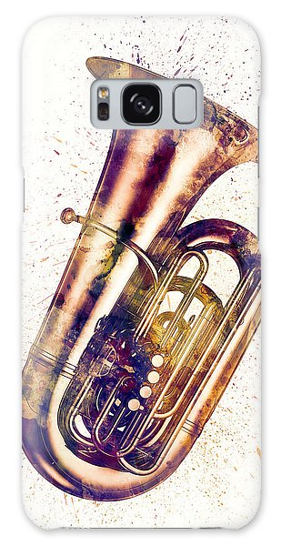 Musical Galaxy Case - Tuba Abstract Watercolor by Michael Tompsett