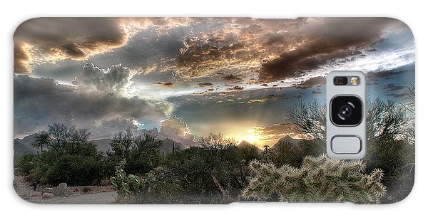 Tucson Mountain Sunset Galaxy Case