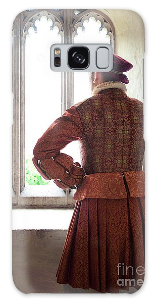 Tudor Man At The Window Galaxy Case by Lee Avison