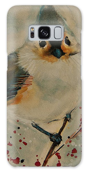 Tufted Blue Titmouse Galaxy Case