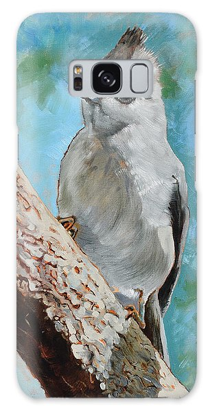 Titmouse Galaxy Case - Tufted Titmouse #1 by Amber Foote