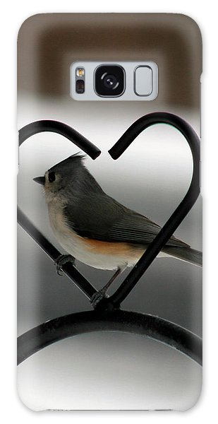 Tufted Titmouse In A Heart Galaxy Case by George Jones