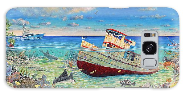 Mangrove Snapper Galaxy Case - Tug Boat Reef 2 by Danielle Perry