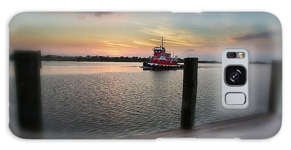Tug Boat Sunset Galaxy Case