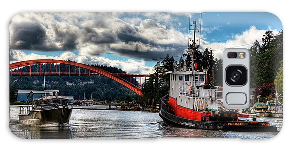 Tugboat At The Rainbow Bridge Galaxy Case by David Patterson